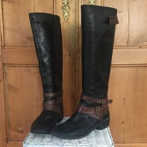 Kelly & Katie Beyonce Brown and Black Riding Boots